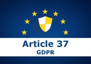 Article 37 GDPR